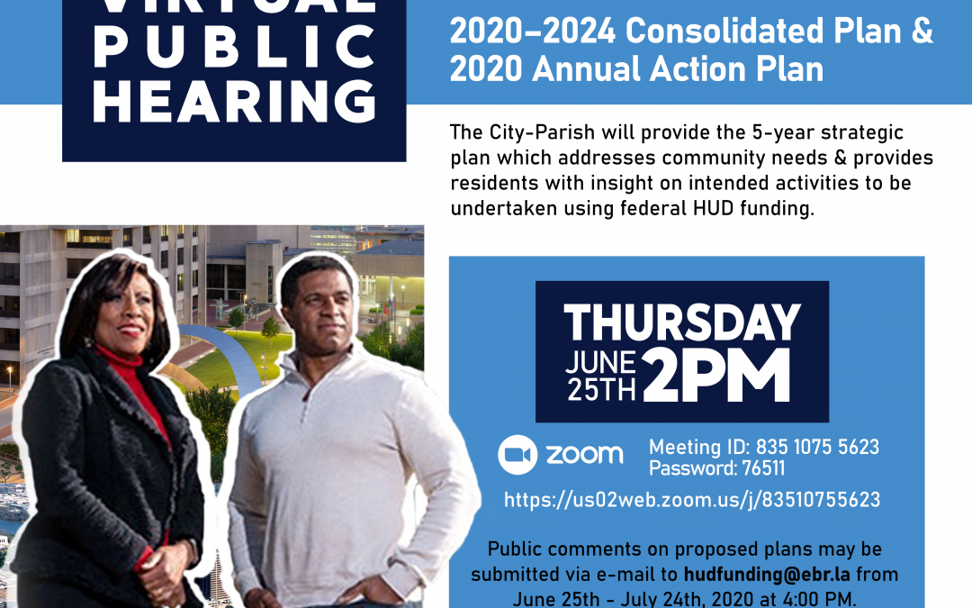 Join us for a Virtual Public Hearing on Community Development