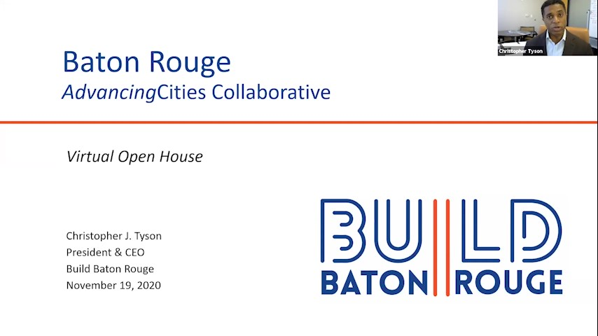 Live Stream | AdvancingCities Baton Rouge Virtual Open House